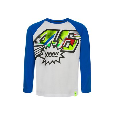 Kid Pop Art long sleeves t-shirt - White