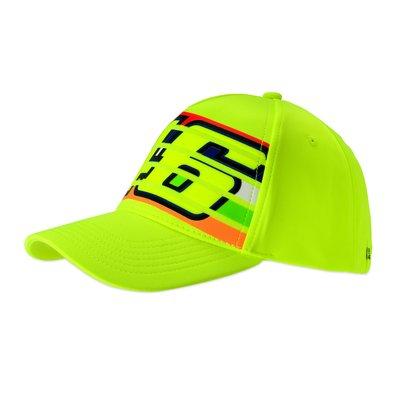 Casquette 46 rayures jaune fluorescent