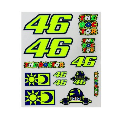 VR46 large stickers set