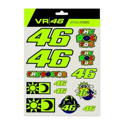 Large VR46 stickers set