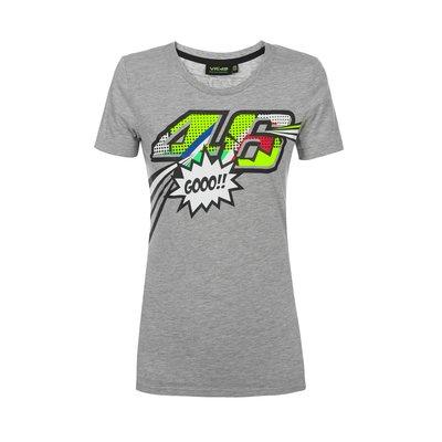 T-Shirt Pop Art Damen - Grau