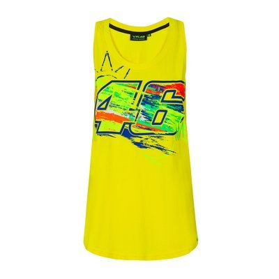 Woman winter test tanktop Valentino Rossi MotoGP - Yellow