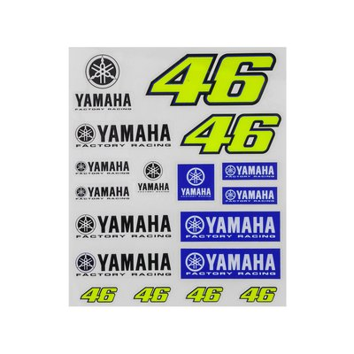 Large Yamaha VR46 stickers set - Multicolor