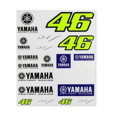 Set adesivi Yamaha VR46 grande - Multicolor
