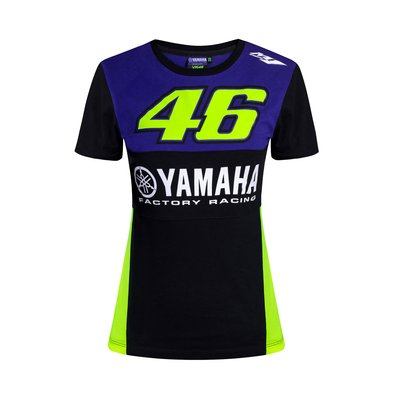 T-shirt Yamaha VR46 donna - Blu Royal