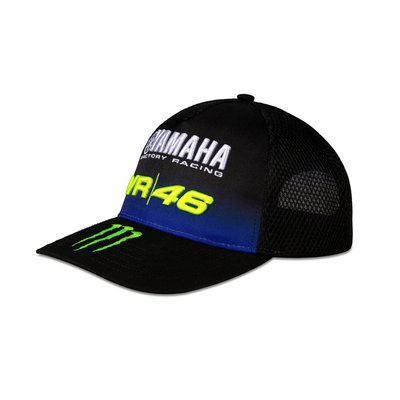 Cap mid visor Yamaha Black