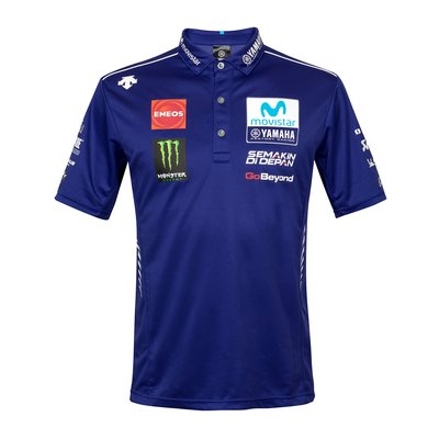 Polo replica Movistar Yamaha team 2018 - Blu Royal