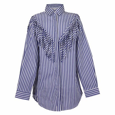 Stripe cotton poplin shirt dress