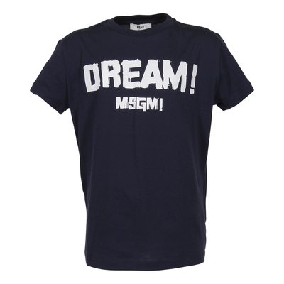 Navy blue logo cotton jersey t-shirt