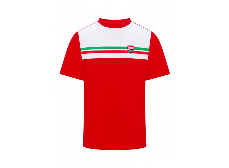 Maglietta Ducati Tricolore - White