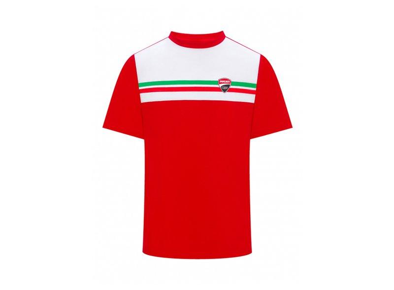 Tricolour T-Shirt Ducati - White
