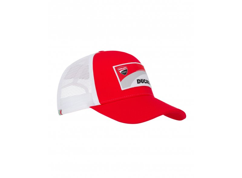 Cappellino con patch Ducati - White