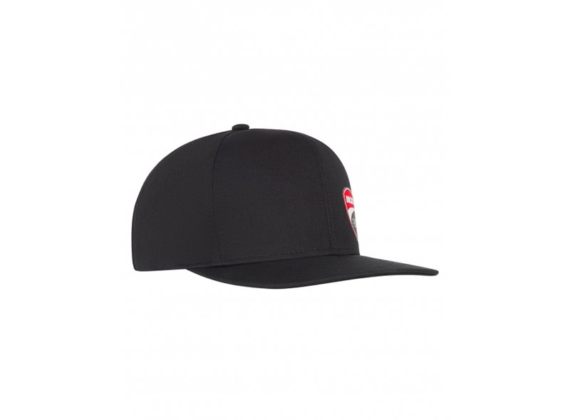 Black flat cap with Ducati patch