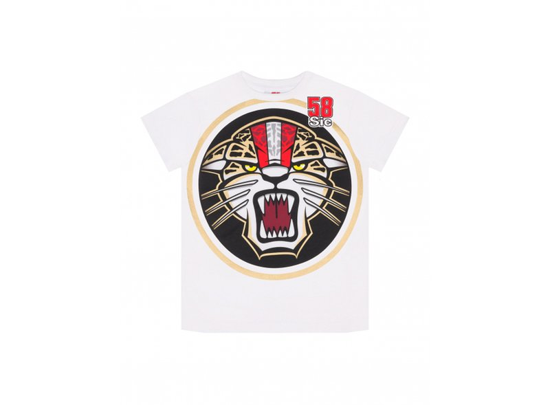 T-shirt Simoncelli Jaguar Enfant - White