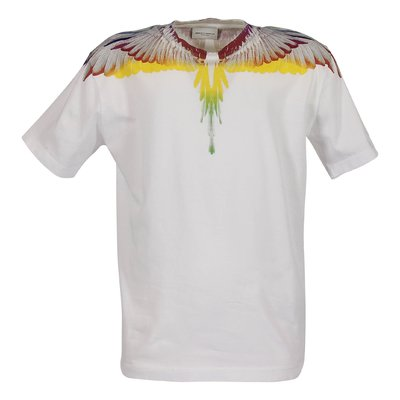 White cotton jersey Wings t-shirt