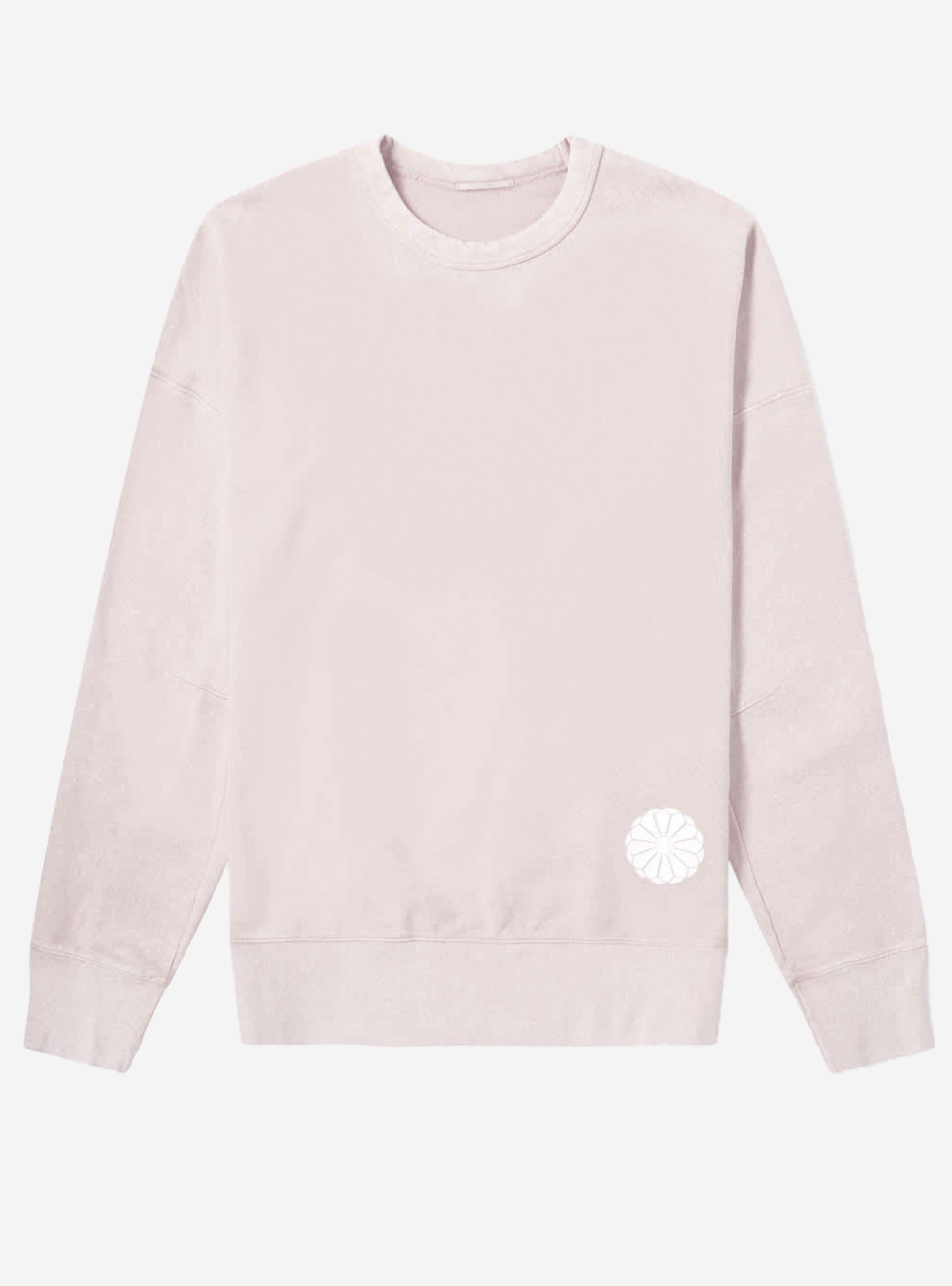 TEN C - LOGO PATCH SWEAT - Mauve Pink - TEN C