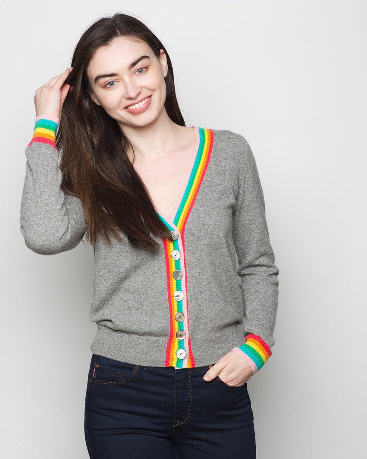 Pure Cashmere Rainbow Cardigan