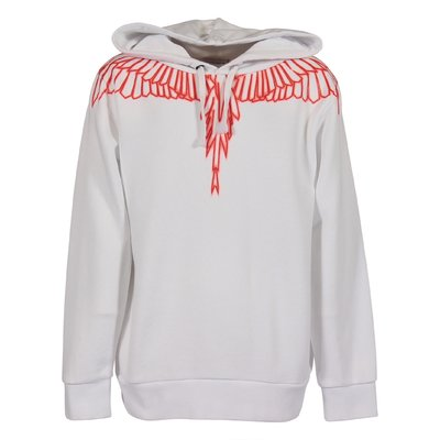 White cotton Wings hoodie