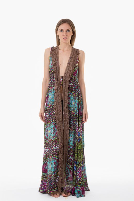 LONG DRESS WITH FRINGES