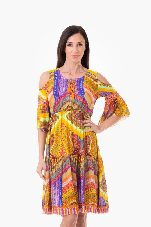 FRINGES KAFTAN MULTICOLOR