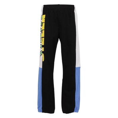 Color blocking cotton sweatpants
