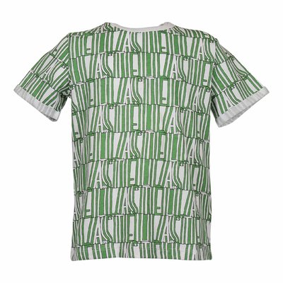 Green and white logo detail organic cotton jersey t-shirt