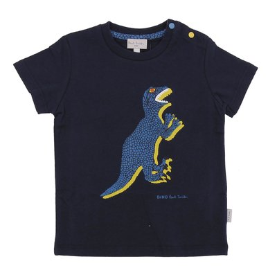 Navy blue iconic print cotton jersey t-shirt