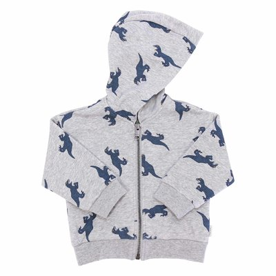 Paul Smith melange grey printed cotton hoodie