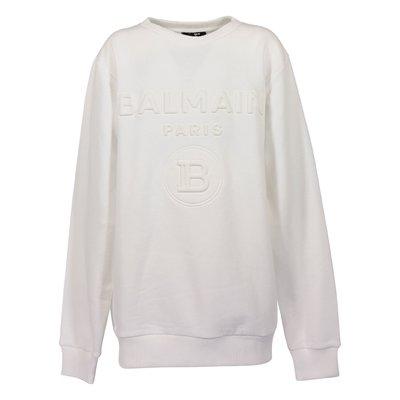 White logo detail cotton sweatshirt