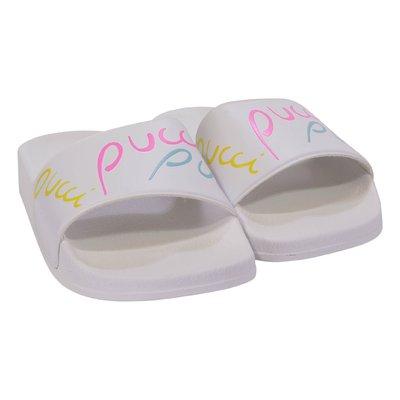 White logo detail rubber sandals