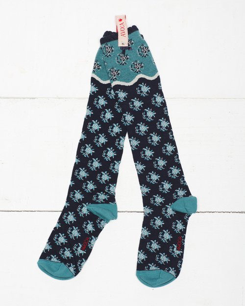 Flower Wave Knee Sock