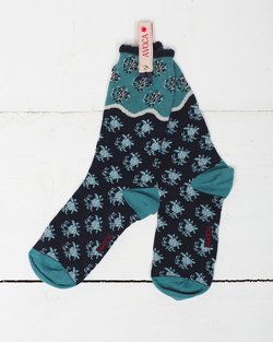 Flower Wave Ankle Sock