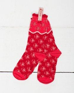 Flower Wave Ankle Sock