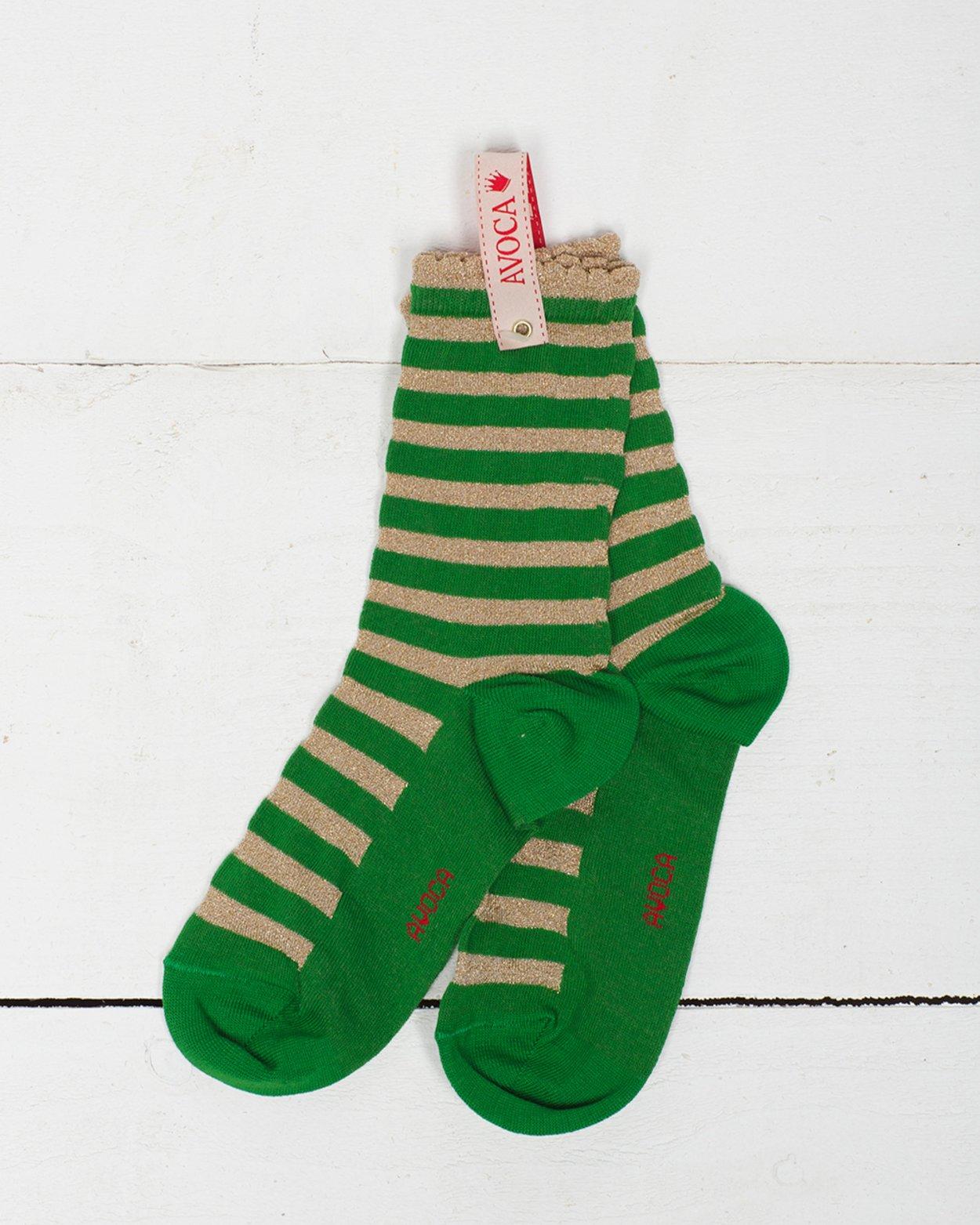 Sparkle Stripe Ankle Sock