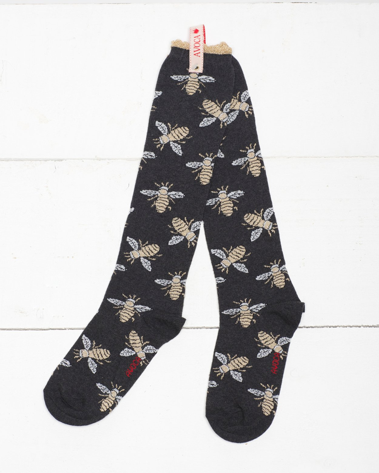 Glitter Bees Knee Sock