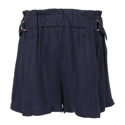 Shorts blu navy in viscosa