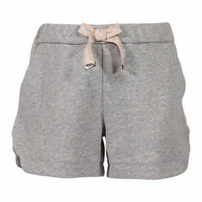 Shorts grigio melange in felpa di cotone