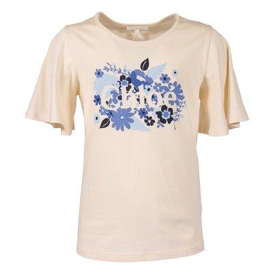Powder pink logo detail cotton jersey t-shirt