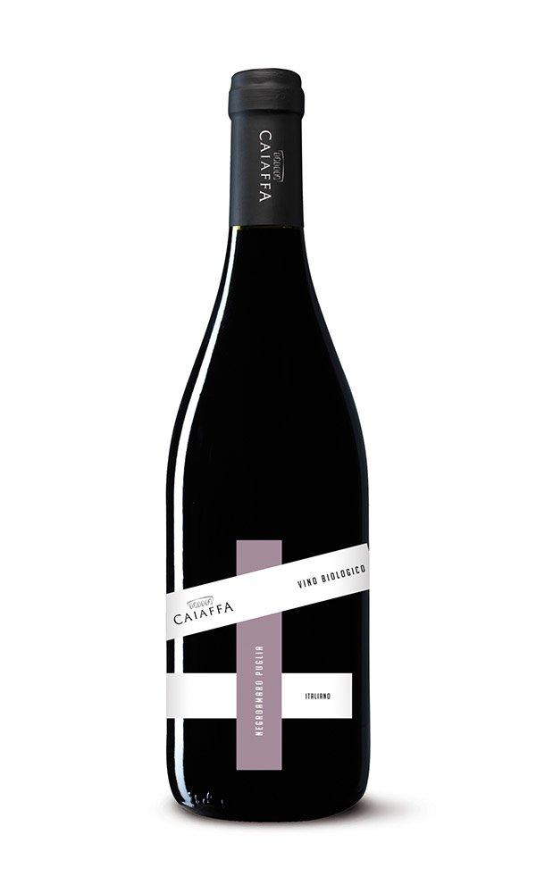 Libiamo - Negroamaro Puglia IGT Mezzogiorno by Caiaffa (Case of 6 - Italian Organic Red Wine) - Libiamo