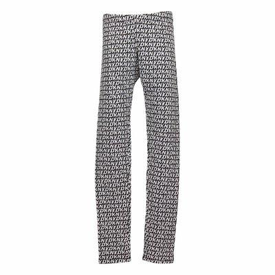 Leggings bianco e nero in cotone stretch