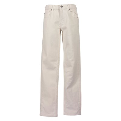 Jeans avorio in cotone denim stretch