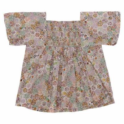 Liberty print cotton poplin blouse