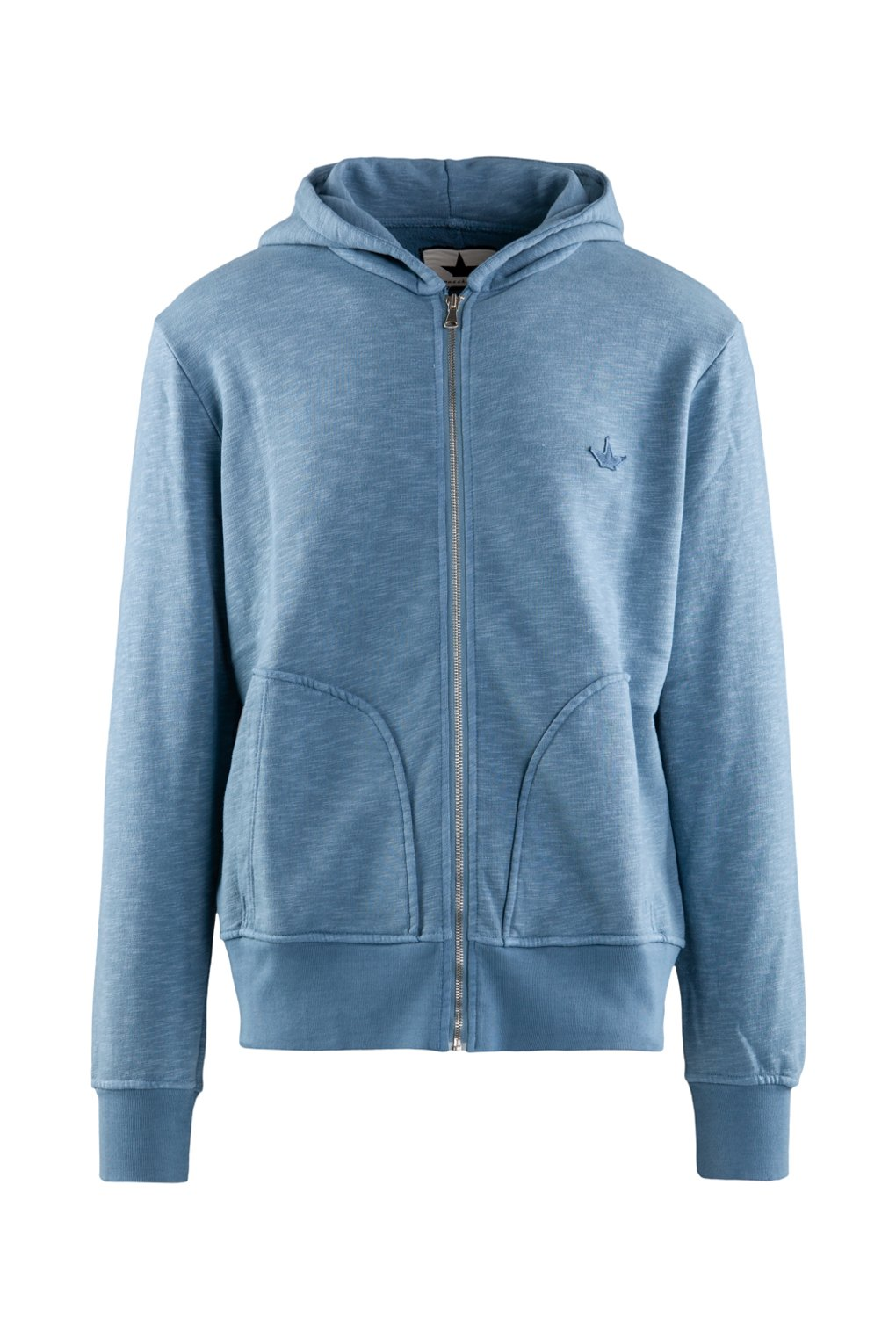 Flamed cotton hoodie