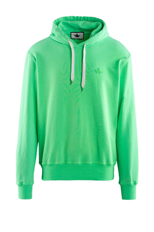 Fleece hoodie fluo