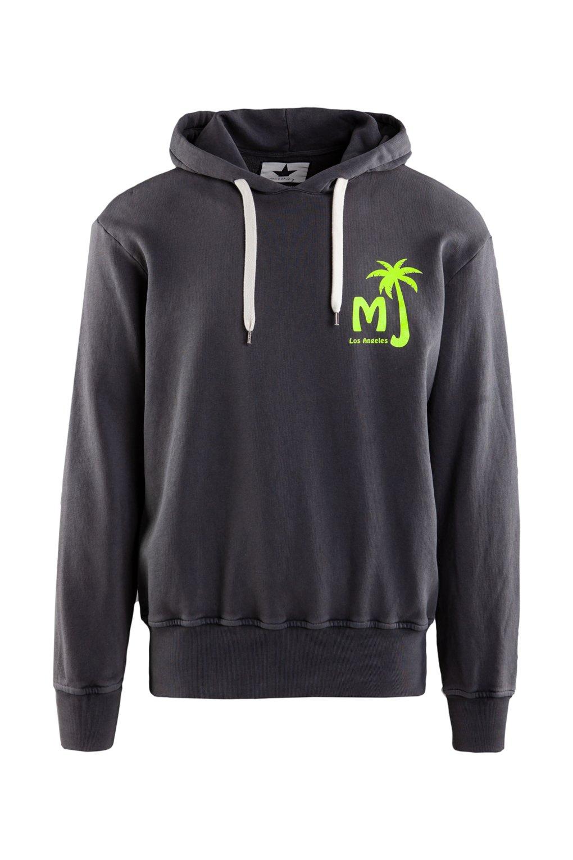 Fleece hoodie fluo detail