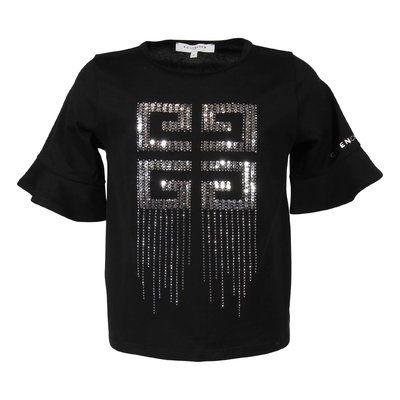 Givenchy black 4G logo detail cotton jersey t-shirt