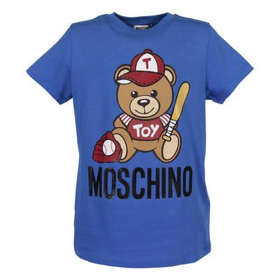 T-shirt blu Teddy Bear in jersey di cotone