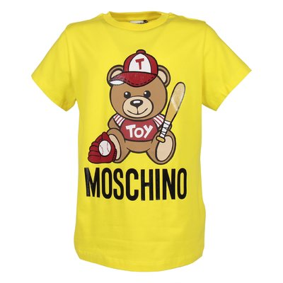 Lemon yellow cotton jersey Teddy Bear t-shirt