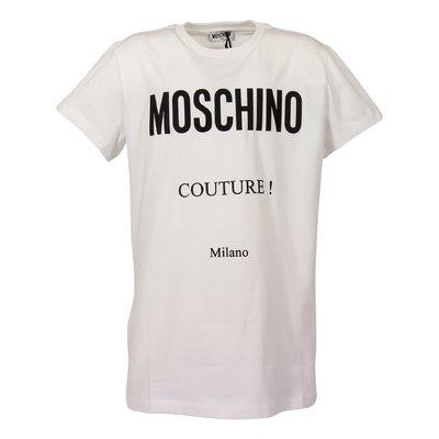 White cotton jersey Moschino Couture t-shirt