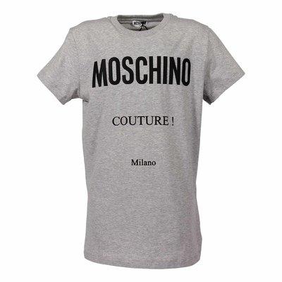 Melange grey cotton jersey Moschino Couture t-shirt